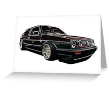 Mark 2 Volkswagen Golf GTI Greeting Card