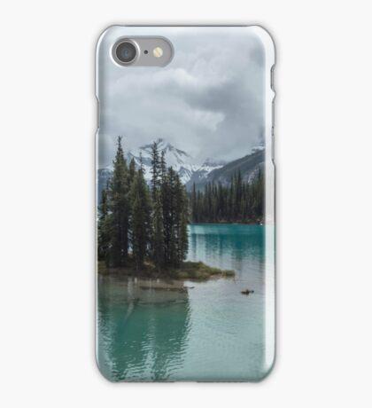 Sacred Island, Maligne Lake iPhone Case/Skin