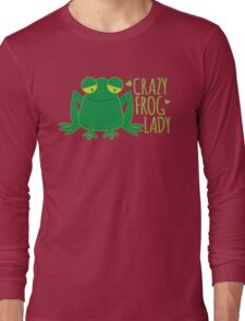 Crazy Frog Lady Long Sleeve T-Shirt