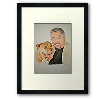 Cesar and Daddy.. Framed Print