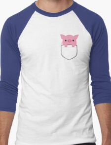 Pocket Pork Men's Baseball ¾ T-Shirt