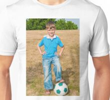 At the beginning of the soccer game Unisex T-Shirt