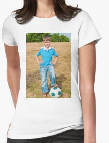 At the beginning of the soccer game Womens Fitted T-Shirt