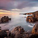 Sunrise Near Soldiers Rocks Blackmans Bay #8 by Chris Cobern