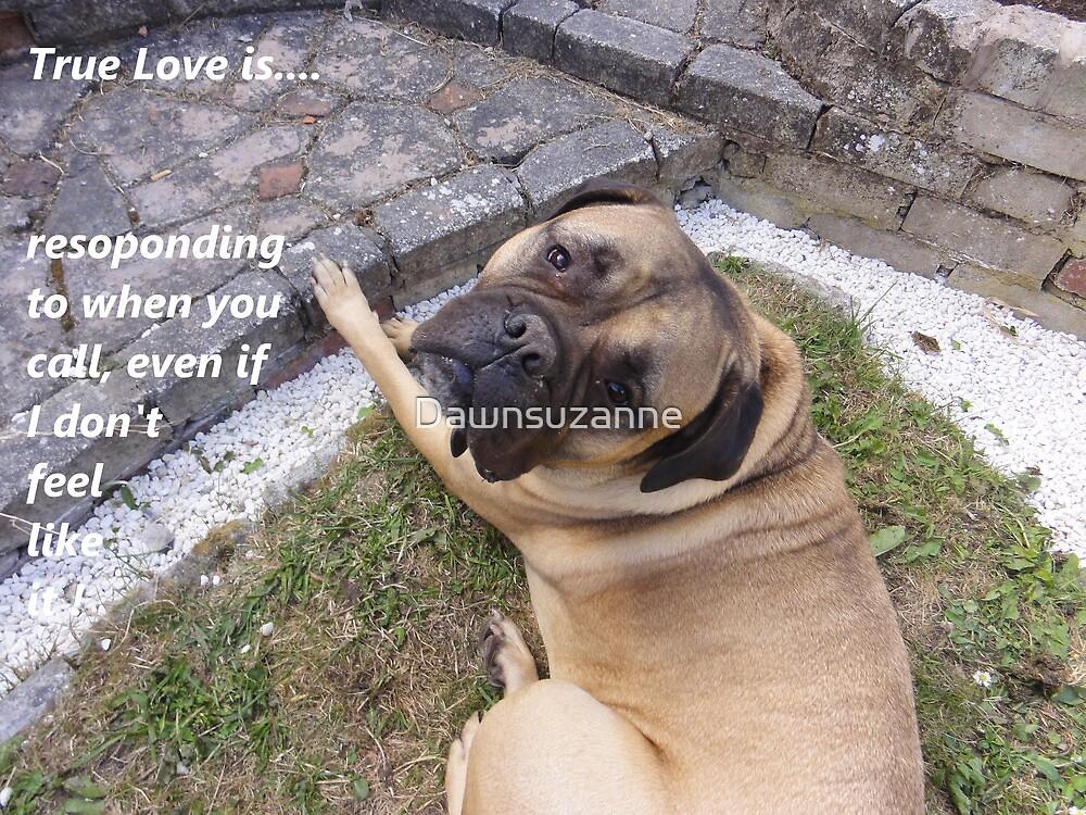 True Love 2 Dog laid down by Dawnsuzanne