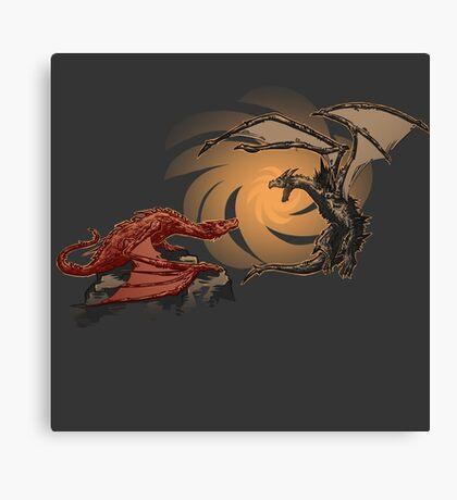 Alduin vs. smaug Canvas Print