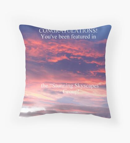 Stunning Skyscapes Banner Throw Pillow