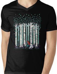 The Birches Mens V-Neck T-Shirt
