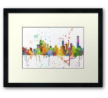 Brisbane, Queensland Skyline  Framed Print