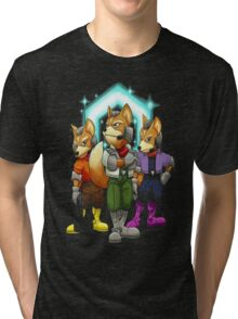 Fox Victory Pose Tri-blend T-Shirt