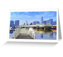 Pier 5 Docklands - Melbourne - Victoria - Australia Greeting Card