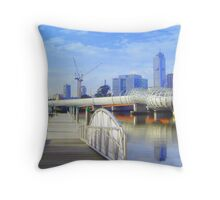 Pier 5 Docklands - Melbourne - Victoria - Australia Throw Pillow