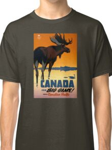 Canada Moose Vintage Travel Poster Restored Classic T-Shirt