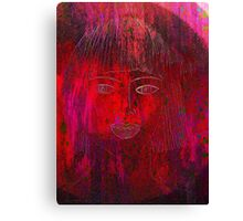 Red Portrait. Canvas Print