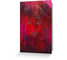 Red Portrait. Greeting Card