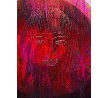Red Portrait. Photographic Print