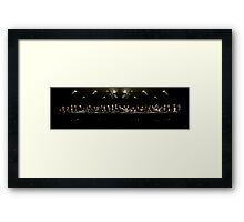 The Last Sit Down Framed Print