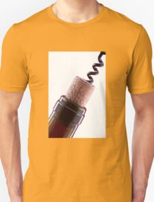 Bottle cork and corkscrew  Unisex T-Shirt