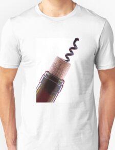 Bottle cork and corkscrew  T-Shirt
