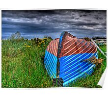 Holy Island Upsidedown Boat Poster