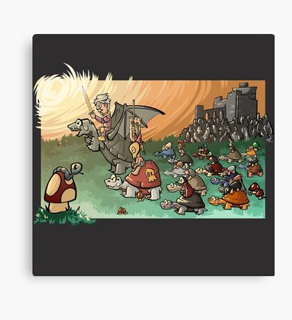 Epic battle! Canvas Print