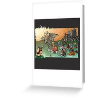 Epic battle! Greeting Card