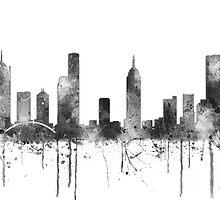 Melbourne, Victoria Skyline - B&W by Marlene Watson