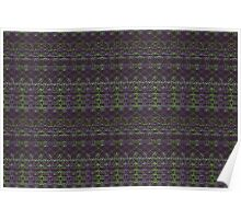 purple and green knitted pattern Poster