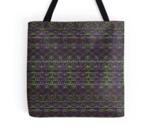 purple and green knitted pattern Tote Bag
