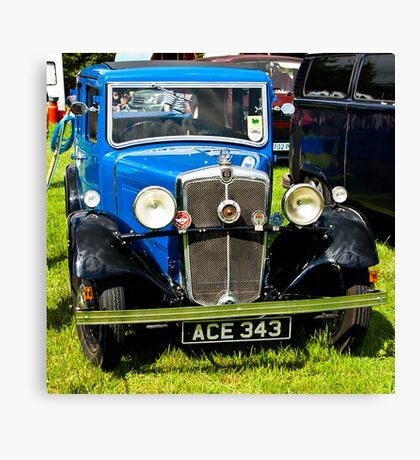 1934 Morris 10/4 Vintage Car Canvas Print