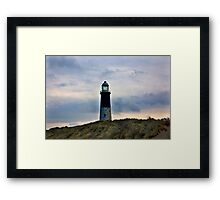 Spurn Head Lighthouse. Framed Print