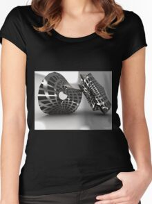 Sculpture Grey Women's Fitted Scoop T-Shirt