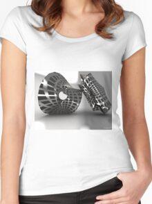 Sculpture Grey Women's Fitted Scoop T-Shirt