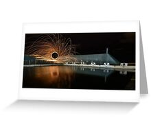 Baths Ablaze Greeting Card