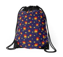 Lanterns Pattern Drawstring Bag