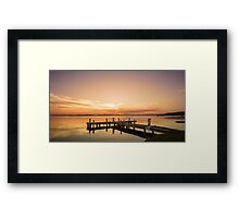 Squid's Ink Jetty Framed Print