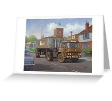 Bedford KM tipper. Greeting Card