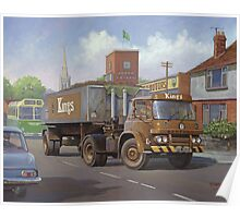 Bedford KM tipper. Poster