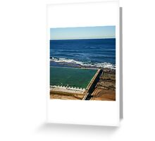 Merewether Ocean Baths Greeting Card