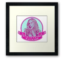 Amy Schumer Quote Design Framed Print