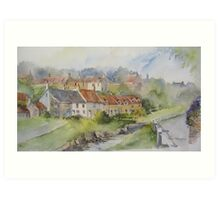 Sandsend Cottages, nr Whitby Art Print