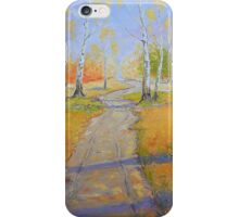 Birch Groves in Autumn iPhone Case/Skin