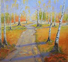 Birch Groves in Autumn by Claudia Hansen