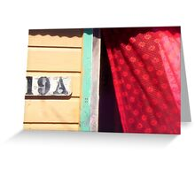 Lace Curtains Blowin' In a Summer Breeze Greeting Card