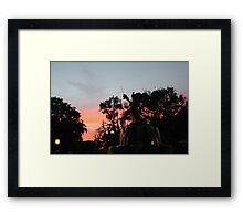 Sunset at toontown Framed Print