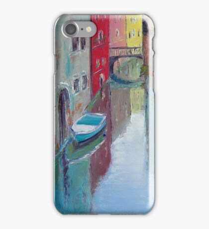A narrow canal in Venice iPhone Case/Skin
