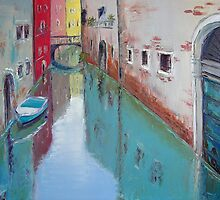 A narrow canal in Venice by Claudia Hansen