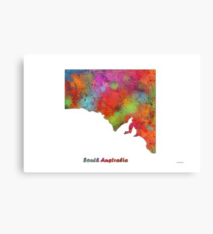 South Australia State Map Canvas Print