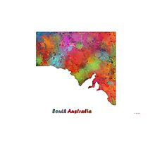 South Australia State Map Photographic Print