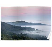 Dawn on the Malvern Hills, England Poster